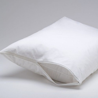 Antibacterial Dust Mites Pillow Protector with Zipper /Hotel/Hospital