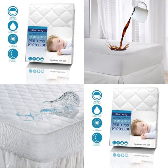 Queen Size Waterproof Vinyl Free Mattress Protector