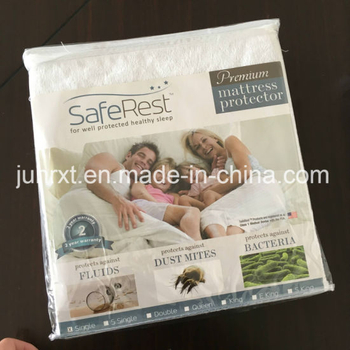 100% Bamboo Fabrifiller with TPU and Polyester Knitted Skirt Quilted Knitted Waterproof Mattress Protector
