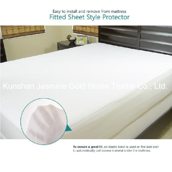 Queen Size 105GSM Tencel Fabric with TPU Waterproof Mattress Protector