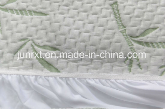 High Quality Double Soft Flannel 100% Cotton Waterproof Hypoallergenic Crib Mattress Protector of White Mesh Cloth
