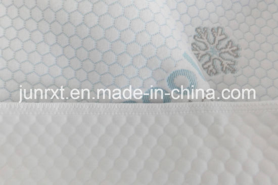 High Quality Water Droplets Cool Feeling Air Layer Waterproof Quiltted Mattress Protector with White Mesh Cloth