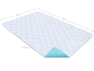 Waterproof Reusable Absorbent Bedwetting & Incontinence Bed Pad