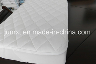 Quilted White Color 100% Cotton Fitted Crib Mattress Protector Baby Organic Waterproof Mattress Cover