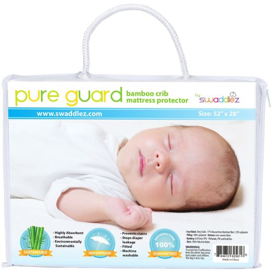 Waterproof Bamboo Crib Mattress Cover - Ultra Soft, Dryer Friendly