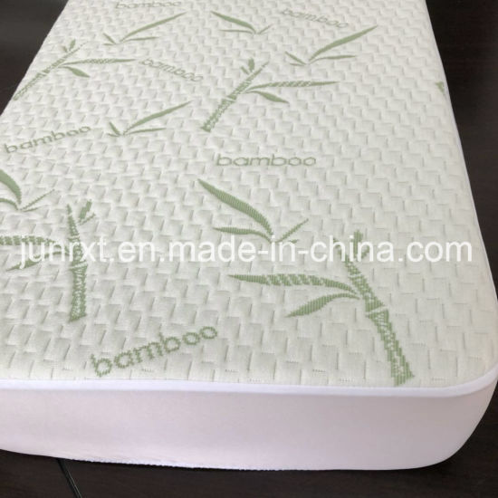 Bamboo Fiber Jacquard Air Layer Anti-Bacteria Quilted Waterproof Crib Mattress Cover