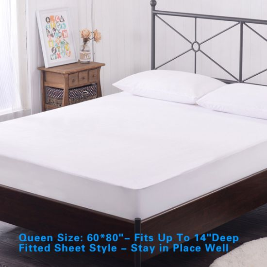 OEM Pure Cotton Waterproof Mattress Cover with Deep Pocket