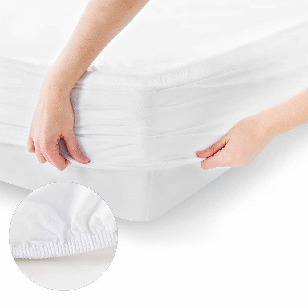 Knit Poly Waterproof Mattress Protector Hot selling 100% ployester knitted fabric laminated with TPU Waterproof Mattress Protector