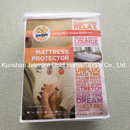 105GSM 100% Polyester knitted Fabric Zippered Waterproof Mattress Protector